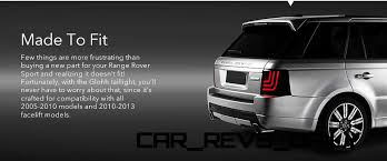 new car launches may 2014GLOHH Launches New Sleek LED Taillamp for Range Rover Sport