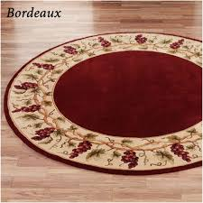 Solid Color Kitchen Rugs Interior Solid Black Kitchen Rugs Bordeaux Border Round Area Rug