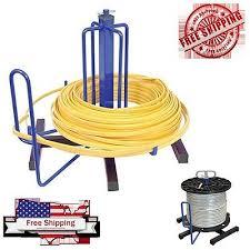 wire cable spool rack organizer floor