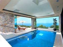 home indoor pool with bar. Home Indoor Pool And Gym With Bar Modern Ocean View I