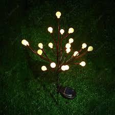 Led Round Ball Christmas Lights Outdoor Led Round Ball Garland Light Solar String Lights Warm White Light
