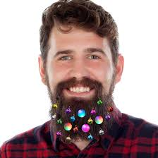 Beard Lights Decotiny 20pcs Light Up Beard Ornaments 16 Pcs Sounding Jingle Bells 4 Pcs Beard Lights Beard Bauble Ornaments Great Christmas And New Year
