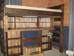Rustic Loft Bed Bedroom Furniture