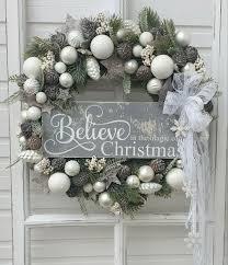 Weihnachtskranz Adventskranz Weihnachtsdeko Türkranz Grau