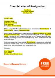 Sample Notice Letters Resignation Letter Samples Free Downloadable Letters