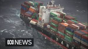 83 shipping containers fall from cargo ship off australia s east coast abc news
