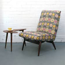 Vintage Parker Knoll Chair in Lollipops fabric. The chair has been ...