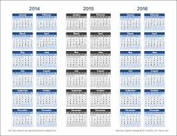 The Year Calendar 3 Year Calendar Template For Excel