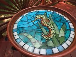 how to make a mosaic seahorse birdbath for mosaic bird bath ideas