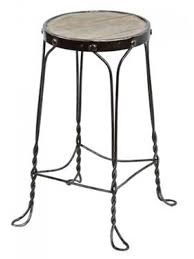 antique four legged ice cream parlor stool with fanciful twisted wrought iron save