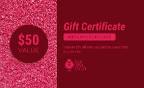 Customized Gift Certificates Gift Certificate Templates Venngage
