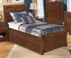 Wooden Twin Platform Bed With Storage — INDIE DECORATION ...