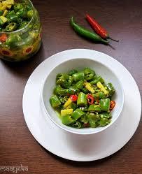 instant green chili pickle in lemon