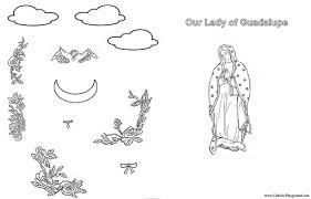 Our Lady Of Guadalupe Activity Sheet Catholic Playground