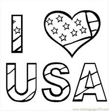 I Love Usa Coloring Page Free Usa Coloring Pages