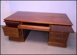 walnut executive desk
