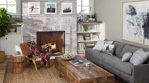 give your room a gray couch and see how it allows rustic elements like wood grains to get their due