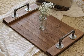 image of wooden serving tray industrial