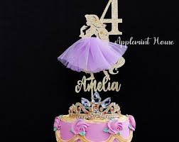 Princess Cake Topper Etsy
