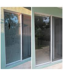 patio door glass replacement before and after
