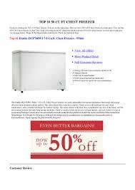 Ge Freezer Fcm7suww 50 Cu Ft Chest Freezer