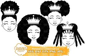 You can sign up to my mailing list and download strong black woman digital vector files featuring african american woman in svg, png, eps, dxf and jpg format. Black Girl Bundle Svg Black Princess Svg Silhouette Svg 582138 Cut Files Design Bundles