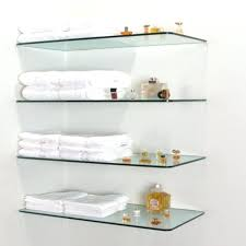 Brushed Nickel Floating Shelves Impressive Bathroom Glass Shelves Bathroom For Your Ideas