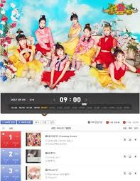 Olleh Chart Chart Oh My Girls Coloring Book Reached 1 On Olleh Chart