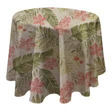 elrene tropics 70 in w x 70 in l multi round single vinyl tablecloth