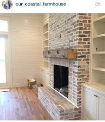 the shiplap fireplace and built ins are exactly what i hope to see in our family room remodel