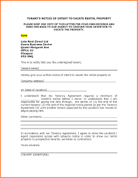 Notice To Vacate Letter Notice To Vacate Letter To Tenant Template Collection Letter