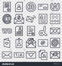 Resume Icons Letter Icons Set Set 100 Letter Stock Vector 100 Shutterstock 75