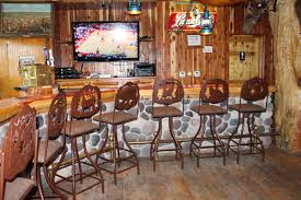 bar stools at rustic lodge heavy duty mercial our shipping policies barstools inc about htm shown northern sets bassett furniture swivel counter height with lb