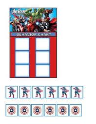 Avengers Chart Behavior Chart Avengers