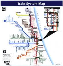 chicago train system map  chicago • mappery