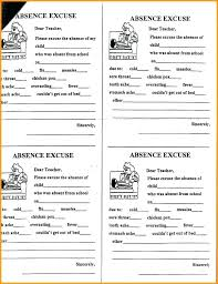 Doctors Note For A Cold Excuse School Note Template Permission Doctors Absence Ooojo Co