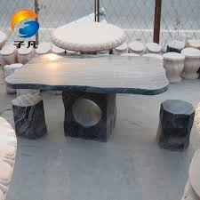 get ations where child tables and chairs courtyard garden landscape natural marble stone shaped stone carving stone table