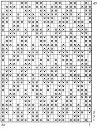 Crochet Pattern Charts Free Chart Of The Knitted Mosaic Pattern Crochet Patterns