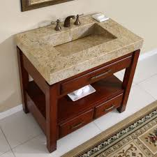 modern single sink bathroom vanities. Modern Bathroom Vanity Single Sink Woth Marble Top And Double Handle Brass Faucet Also Wooden Storage Vanities