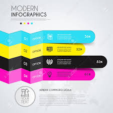 Modern Flow Chart Design Modern Infographic Design Template With Vivid Colors Space For