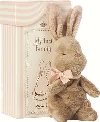 <b>Мягкая игрушка Maileg</b>, <b>Мой</b> первый заяц в коробке, розовый
