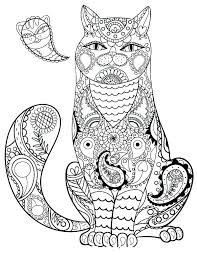 Lovely Cartoon Cat Coloring Pages Hard Cats Scihostco