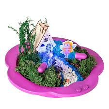 com light up fairy garden kit create plant grow a magical enchanted light up fairy world everything included great craft stem gift for