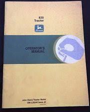 john deere tractor operators manual item 8 genuine 1972 73 john deere 820 tractor operators manual very good shape