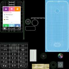 Nokia 208 And 207 Phone 3D Model $39 ...