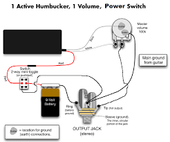 wiring diagram for 1 humbucker 1 volume pot 1 killswitch or there is a better way which causes less noise