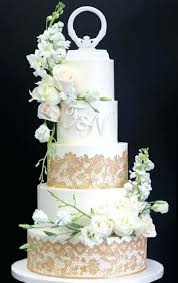White And Gold Wedding Cake Pretty White And Gold Glitter Two Tier
