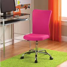 bedroom pink swivel chair desk for teen mixed white painted wall with iron legs green fur