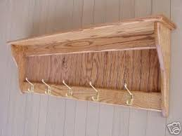 Rustic Wall Coat Rack With Shelf