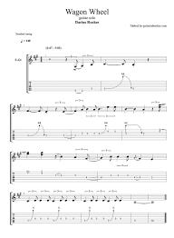 wagon wheel sheet music darius rucker wagon wheel solo tab pdf guitar tab guitar pro